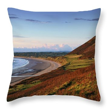 Rhossili Throw Pillow