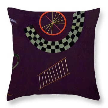 Ribbon With Squares, 1944 Throw Pillow