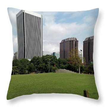 Richmond Cityscape Throw Pillow