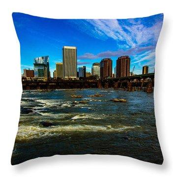 Richmond On The James  Throw Pillow