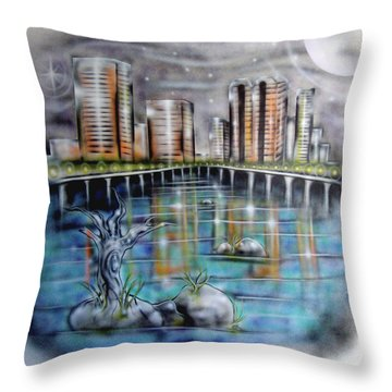 Richmond Va Throw Pillow