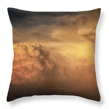 Ride For The Sunset Throw Pillow