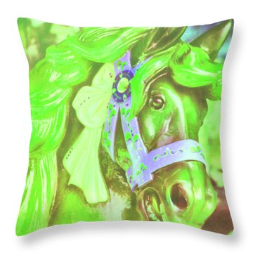 Ride Of Old Greens Throw Pillow