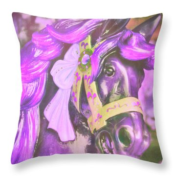Ride Of Old Purples Throw Pillow