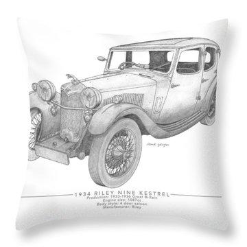 Riley Nine Kestrel Saloon Throw Pillow