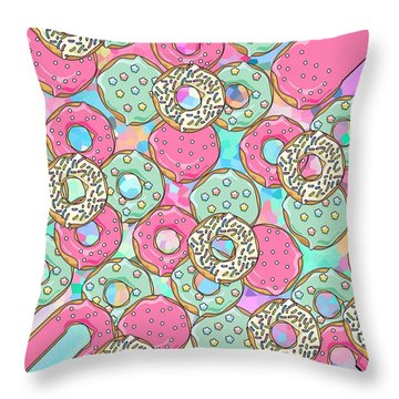 Ring Donut Throw Pillow