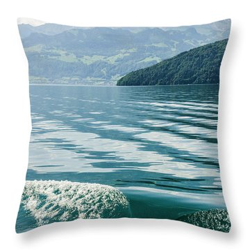 Ripples On Lake Lucerne Throw Pillow