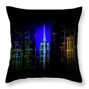 Rise Up New York Throw Pillow