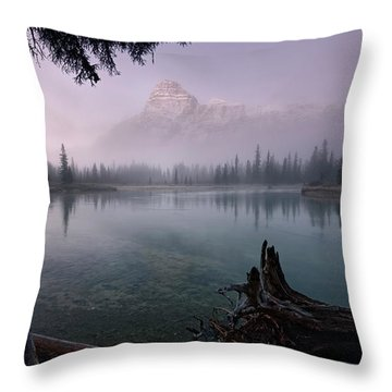 Rising From The Fog Throw Pillow