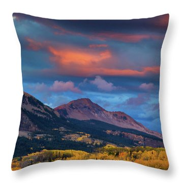 Rising Color  Throw Pillow