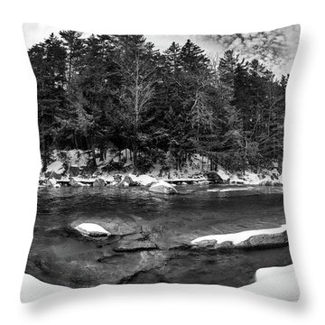 Throw Pillow featuring the photograph River Bend, Rocky Gorge 2 N H by Michael Hubley