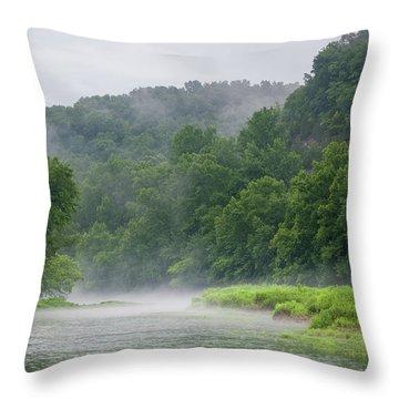River Mist Throw Pillow