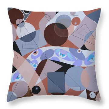 River Of Eyes Throw Pillow