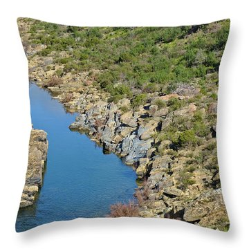 River On The Rocks. Color Version Throw Pillow