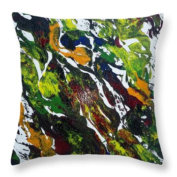 Rivers And Valleys Throw Pillow