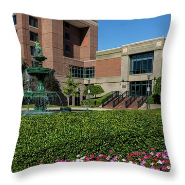 Riverwalk Augusta Ga Fountain Throw Pillow