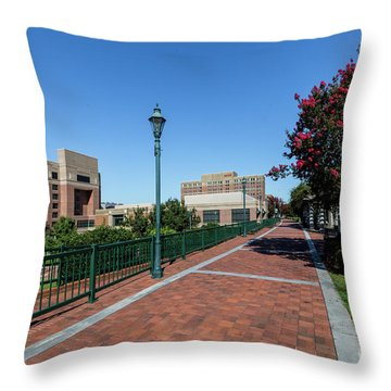 Riverwalk Downtown Augusta Ga Throw Pillow