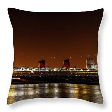 Rms Queen Mary Throw Pillow