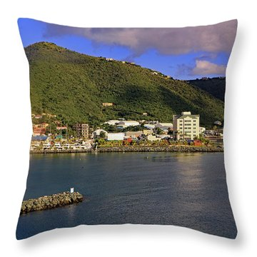 Throw Pillow featuring the photograph Road Harbour by Tony Murtagh