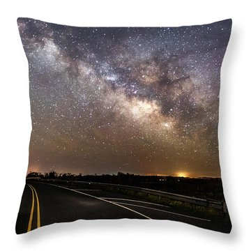 Road To Milky Way Throw Pillow
