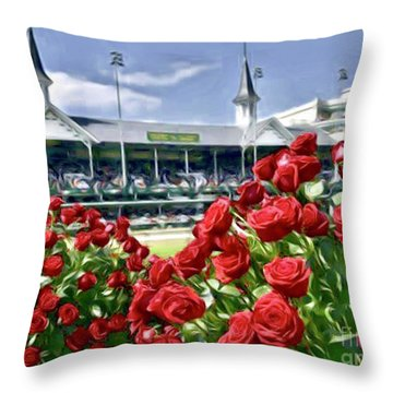 Road To The Roses Throw Pillow