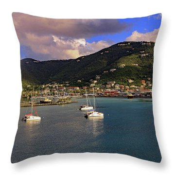 Throw Pillow featuring the photograph Road Town  by Tony Murtagh