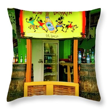 Roadside Watering Hole Throw Pillow