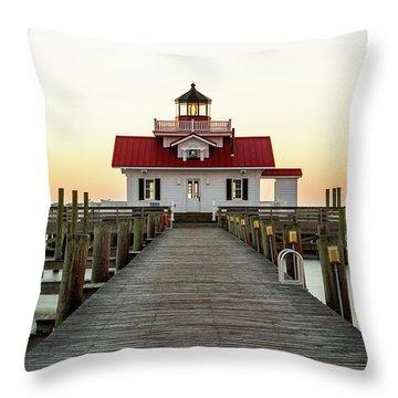 Roanoke Marshes Light Throw Pillows
