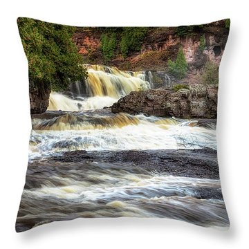 Roaring Gooseberry Falls Throw Pillow