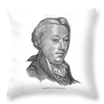 Robert Livingston Throw Pillow