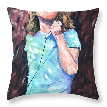 Robert Plant Throw Pillow