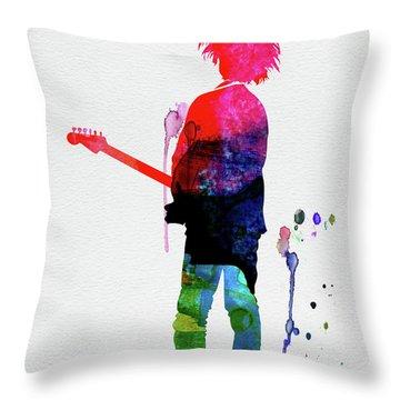Robert Smith Watercolor Throw Pillow