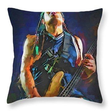 Robert Trujillo Metallica Throw Pillow