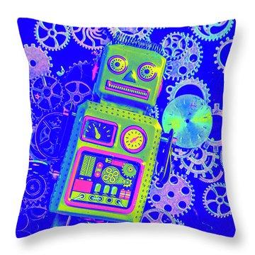 Robot Reboot Throw Pillow