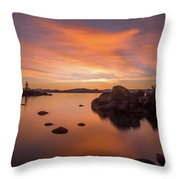 Rock Balance Throw Pillow