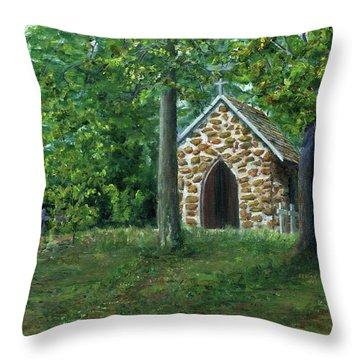 Rock Chapel Near Mansfield, Louisiana Throw Pillow
