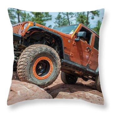 Rock Crawlin Throw Pillow