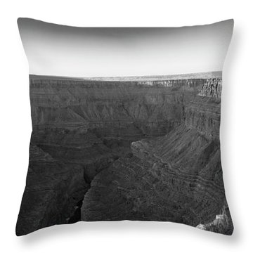 Rock Formations On The Edge Throw Pillow