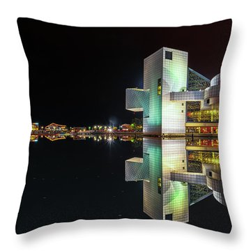 Rock Hall Reflections  Throw Pillow