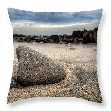 Rock On Beach Throw Pillow