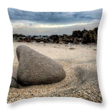 Rock On Beach Throw Pillow