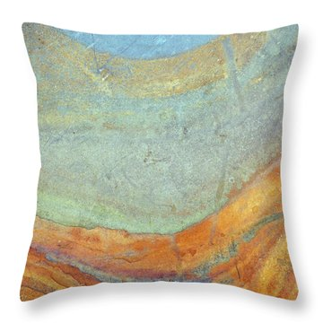 Rock Stain Abstract 7 Throw Pillow