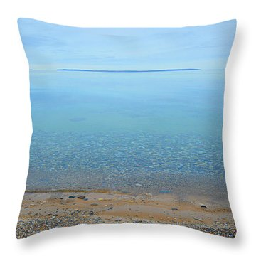 Throw Pillow featuring the photograph Rockhounder's Paradise by SimplyCMB