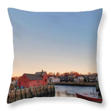 Rockport Massachusetts  Throw Pillow