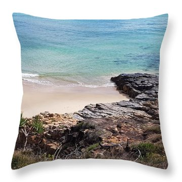 Rocks Sand And Water  Throw Pillow
