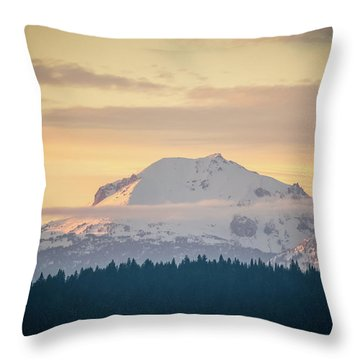 Rocky Cathedrals That Reach To The Sky Throw Pillow