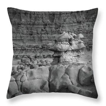 Rocky Desert Formation Throw Pillow