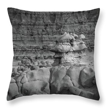 Rocky Desert Formation Throw Pillow