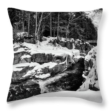 Throw Pillow featuring the photograph Rocky Gorge Foot Bridge N H by Michael Hubley