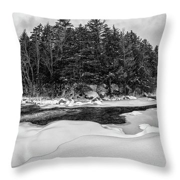 Throw Pillow featuring the photograph Rocky Gorge N H, River Bend 1 by Michael Hubley